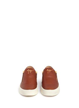 正面 -点击放大 - GIUSEPPE ZANOTTI DESIGN - MAY LONDON金属拉链牛皮厚底便鞋