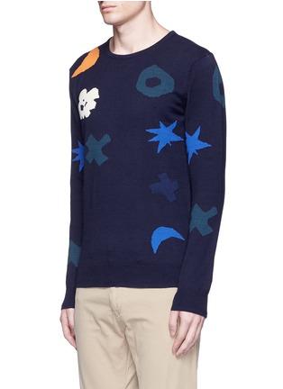 正面 -点击放大 - SCOTCH & SODA - 抽象几何色块纯棉针织衫