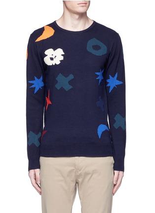 首图 - 点击放大 - SCOTCH & SODA - 抽象几何色块纯棉针织衫