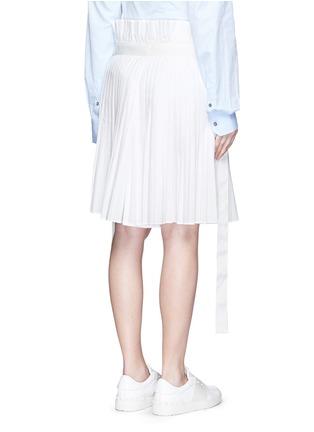 背面 - 点击放大 - SACAI - 百褶阔腿裙裤
