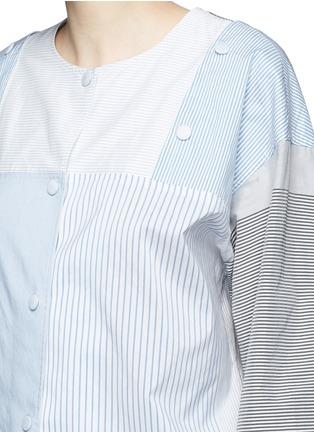 细节 - 点击放大 - PORTS 1961 - 条纹拼接府绸上衣