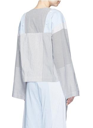背面 - 点击放大 - PORTS 1961 - 条纹拼接府绸上衣