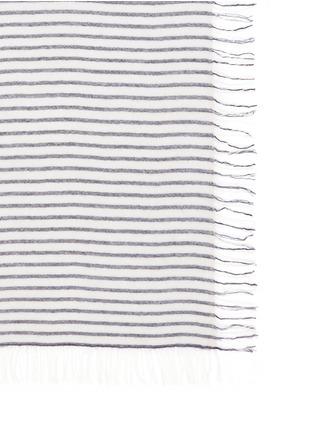 细节 - 点击放大 - ISABEL MARANT ÉTOILE - 横纹流苏羊毛混羊绒围巾
