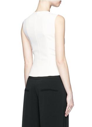 背面 - 点击放大 - BALENCIAGA - 系带设计绉绸无袖上衣