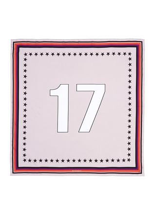 """首图 - 点击放大 - GIVENCHY - """"17""""数字印花真丝围巾"""