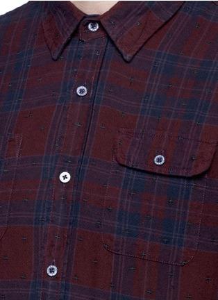 细节 - 点击放大 - SCOTCH & SODA - 十字刺绣格纹纯棉衬衫