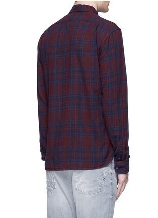 背面 - 点击放大 - SCOTCH & SODA - 十字刺绣格纹纯棉衬衫