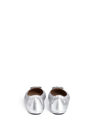 背面 - 点击放大 - TORY BURCH - Minnie品牌标志缀饰真皮芭蕾平底鞋