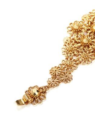 细节 - 点击放大 - MIRIAM HASKELL - 掐丝花卉黄铜手链