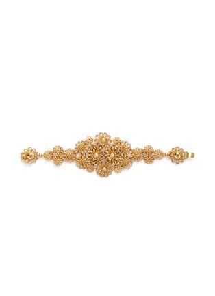 首图 - 点击放大 - MIRIAM HASKELL - 掐丝花卉黄铜手链