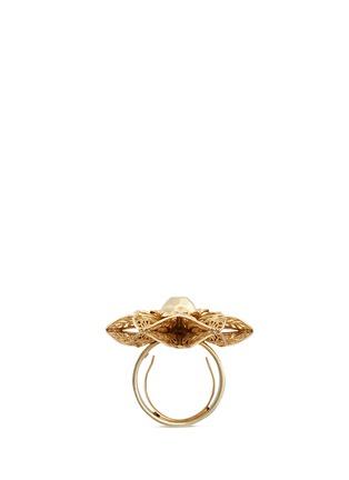 模特示范图 - 点击放大 - MIRIAM HASKELL - 层叠掐丝花卉戒指