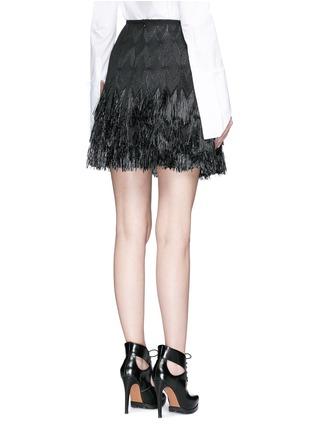 背面 - 点击放大 - AZZEDINE ALAÏA - 草编花纹流苏短裙