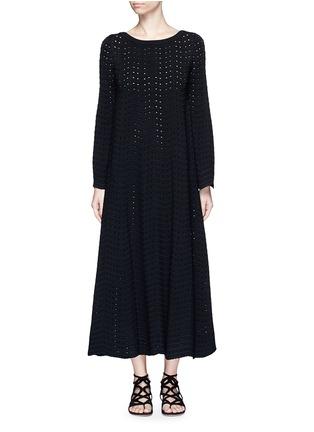 首图 - 点击放大 - AZZEDINE ALAÏA - 几何折纹镂空连衣裙