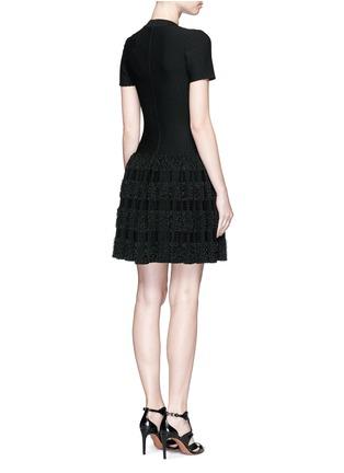 背面 - 点击放大 - AZZEDINE ALAÏA - Marquises圆点提花褶皱针织连衣裙