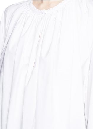细节 - 点击放大 - The Row - MELODY碎褶装饰棉混亚麻长上衣