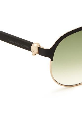 细节 - 点击放大 - Alexander McQueen - Flat brow bar wire aviator sunglasses