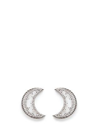 细节 - 点击放大 - VENNA - 仿水晶月亮链条流苏耳环