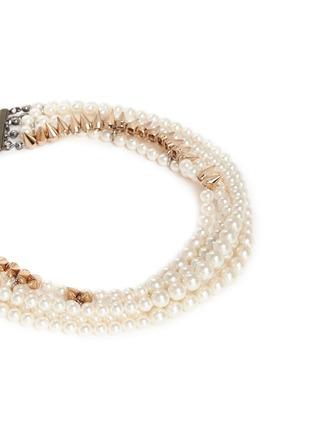 细节 - 点击放大 - VENNA - 人造珍珠尖钉四重项链