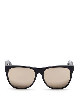 首图 - 点击放大 - SUPER - Classic中性款镜面镜片方框太阳眼镜