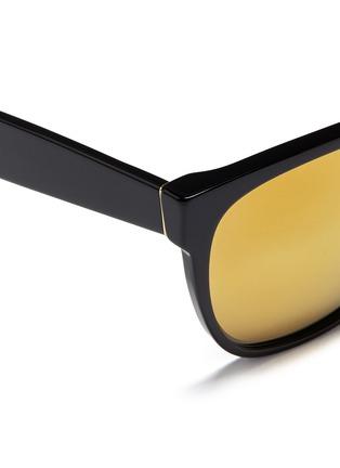 细节 - 点击放大 - SUPER - Classic 24K中性款镜面镜片方框太阳眼镜