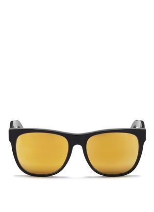首图 - 点击放大 - SUPER - Classic 24K中性款镜面镜片方框太阳眼镜