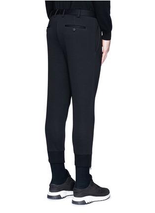 背面 - 点击放大 - NEIL BARRETT - 拉链装饰太空棉九分裤