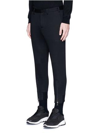 正面 -点击放大 - NEIL BARRETT - 拉链装饰太空棉九分裤