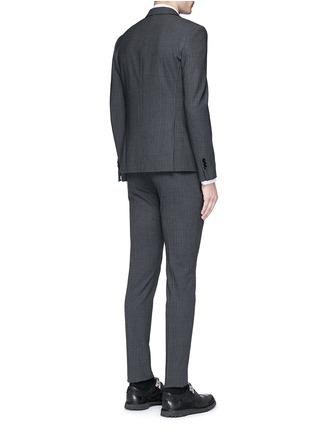 背面 - 点击放大 - NEIL BARRETT - 修身竖纹混羊毛西服套装