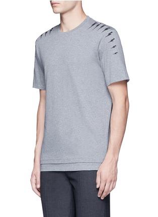 正面 -点击放大 - NEIL BARRETT - 闪电印花纯棉T恤