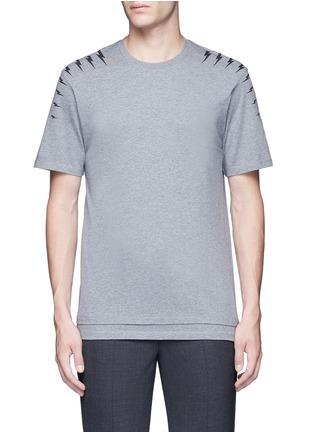 首图 - 点击放大 - NEIL BARRETT - 闪电印花纯棉T恤