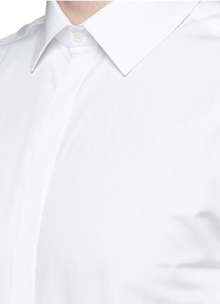 细节 - 点击放大 - NEIL BARRETT - 闪电缀饰领带礼服衬衫