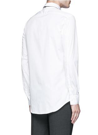 背面 - 点击放大 - NEIL BARRETT - 闪电缀饰领带礼服衬衫
