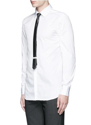 正面 -点击放大 - NEIL BARRETT - 闪电缀饰领带礼服衬衫