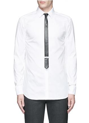 首图 - 点击放大 - NEIL BARRETT - 闪电缀饰领带礼服衬衫