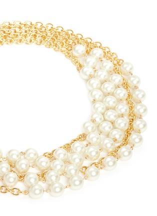 细节 - 点击放大 - KENNETH JAY LANE - 人造珍珠坠饰五层项链