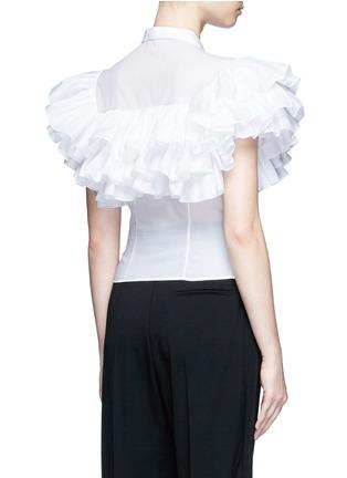 背面 - 点击放大 - ALAÏA - 荷叶边拼贴纯棉衬衫
