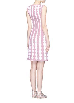 背面 - 点击放大 - ALAÏA - Moorea格纹圆点提花针织连衣裙