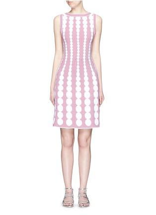 首图 - 点击放大 - ALAÏA - Moorea格纹圆点提花针织连衣裙