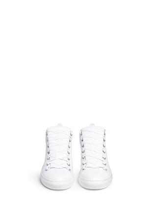 正面 -点击放大 - BALENCIAGA - ARENA编织格纹高筒球鞋