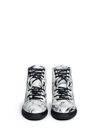 正面 -点击放大 - BALENCIAGA - 拼色小牛皮高筒运动鞋