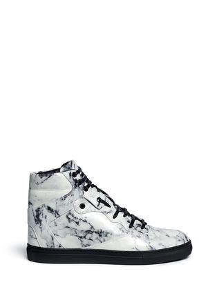 首图 - 点击放大 - BALENCIAGA - 拼色小牛皮高筒运动鞋