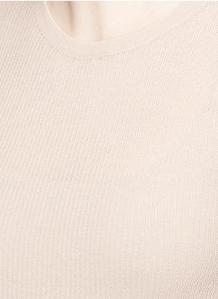 细节 - 点击放大 - ISABEL MARANT  - 条纹混棉弹性上衣