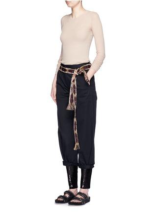 模特示范图 - 点击放大 - ISABEL MARANT  - 条纹混棉弹性上衣