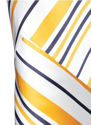 细节 - 点击放大 - Maticevski - BRILLIANCE条纹拼接缎面半身裙
