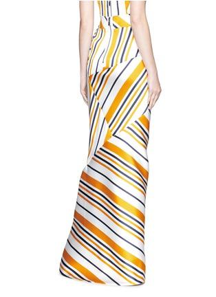 背面 - 点击放大 - Maticevski - BRILLIANCE条纹拼接缎面半身裙