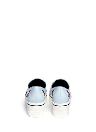 背面 - 点击放大 - Stella McCartney - 蛇纹星星坡跟厚底便鞋