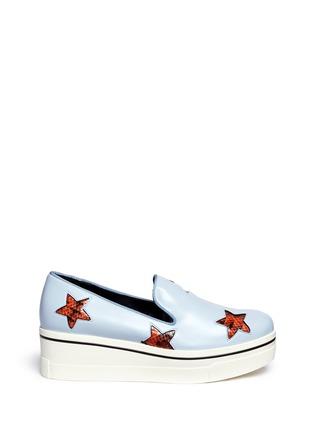 首图 - 点击放大 - Stella McCartney - 蛇纹星星坡跟厚底便鞋