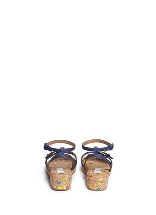 背面 - 点击放大 - STELLA MCCARTNEY KIDS - Linda儿童款牛仔搭带软木坡跟凉鞋