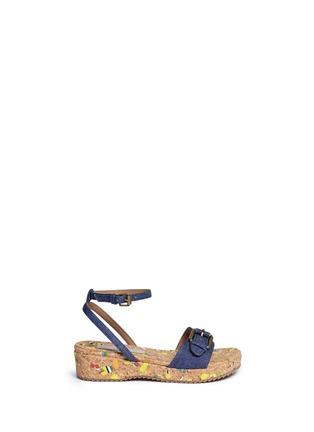 首图 - 点击放大 - STELLA MCCARTNEY KIDS - Linda儿童款牛仔搭带软木坡跟凉鞋