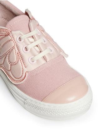 细节 - 点击放大 - STELLA MCCARTNEY KIDS - Juniper儿童款翅膀拼贴帆布便鞋
